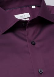 ETERNA LONG SLEEVE SHIRT SLIM FIT GENTLE SHIRT TWILL BURGUNDY UNI