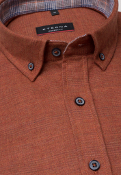 ETERNA LONG SLEEVE SHIRT MODERN FIT FLANEL ORANGE RED UNI