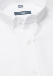 ETERNA HALF SLEEVE SHIRT MODERN FIT LINEN WHITE UNI