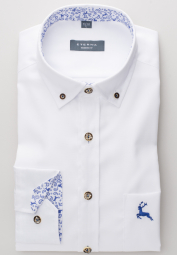 ETERNA LONG SLEEVE SHIRT MODERN FIT OXFORD WHITE<BR> UNI
