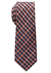 ETERNA TIE TERRACOTTA / BLUE CHECKED