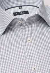 ETERNA LONG SLEEVE SHIRT COMFORT FIT PINPOINT GREY CHECKED