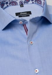 ETERNA LONG SLEEVE SHIRT SLIM FIT PINPOINT BLUE UNI