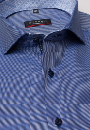 ETERNA LONG SLEEVE SHIRT MODERN FIT BLUE/WHITE
