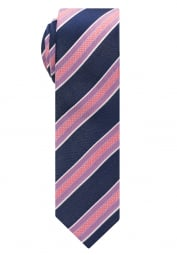 ETERNA TIE NAVY / PINK STRIPED