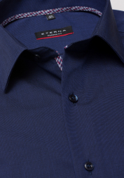 ETERNA LONG SLEEVE SHIRT MODERN FIT FIL À FIL NAVY BLUE UNI