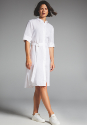 3/4 SLEEVE SHIRTDRESS 1863 BY ETERNA - PREMIUM WHITE UNI