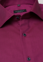 ETERNA HALF SLEEVE SHIRT COMFORT FIT RED STRUCTURED