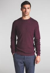 ETERNA KNIT SWEATER WITH ROUND NECK RED UNI