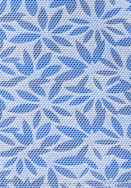 ETERNA POCKET SQUARE BLUE/WHITE PRINTED