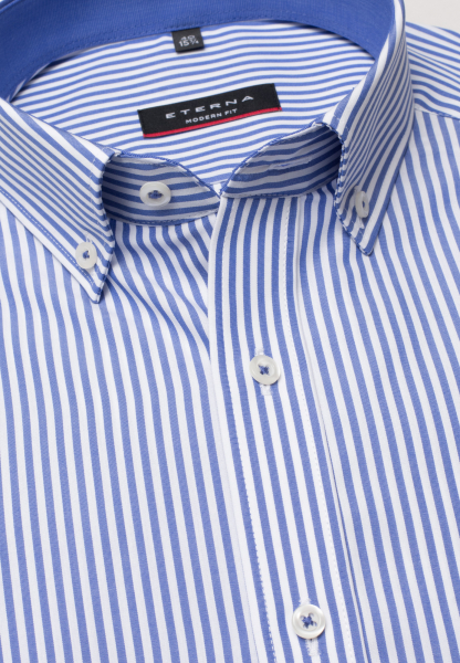 ETERNA LONG SLEEVE SHIRT MODERN FIT POPLIN BLUE STRIPED