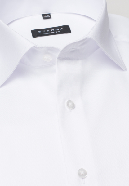 ETERNA LONG SLEEVE SHIRT COMFORT FIT TWILL WHITE UNI