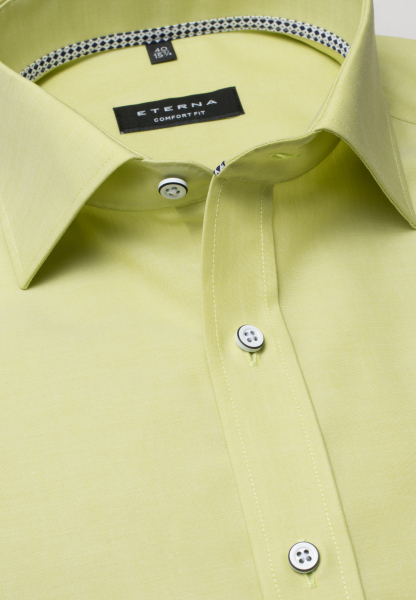ETERNA HALF SLEEVE SHIRT COMFORT FIT CHAMBRAY YELLOW UNI