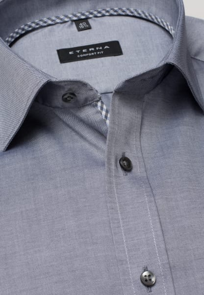 ETERNA HALF SLEEVE SHIRT COMFORT FIT PINPOINT BLUE/GREY UNI