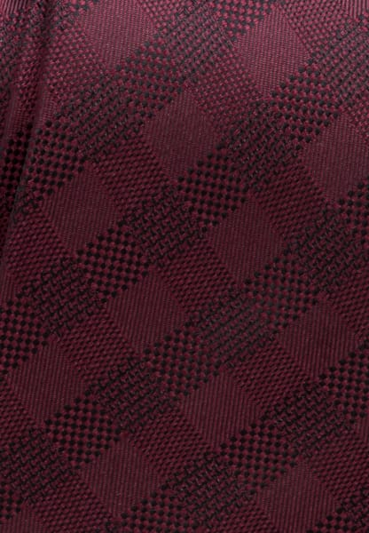 ETERNA TIE BURGUNDY CHECKED