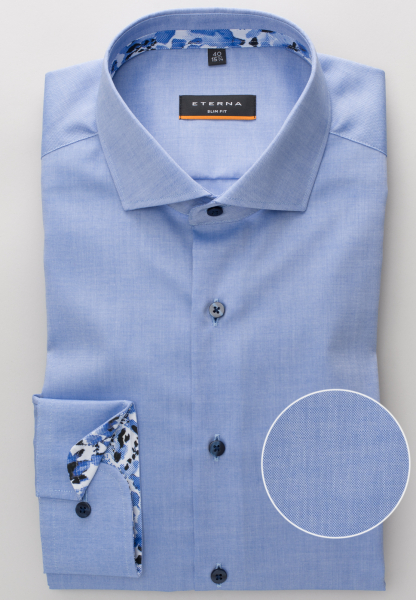 ETERNA LONG SLEEVE SHIRT SLIM FIT PINPOINT SKY BLUE UNI