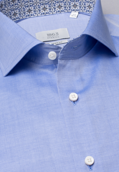 ETERNA LONG SLEEVE SHIRT MODERN FIT POPLIN LIGHT BLUE UNI