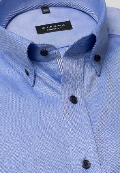 ETERNA HALF SLEEVE SHIRT COMFORT FIT OXFORD BLUE UNI