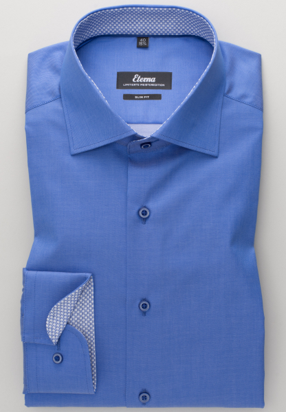 ETERNA LONG SLEEVE SHIRT SLIM FIT GENTLE SHIRT TWILL BLUE UNI