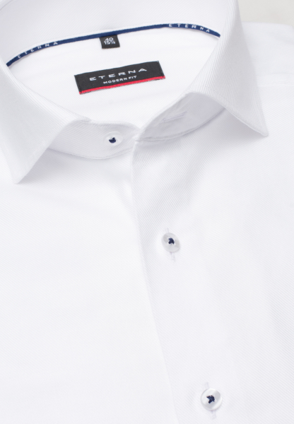 ETERNA LONG SLEEVE SHIRT MODERN FIT NEVER IRON SHIRT TWILL WHITE UNI