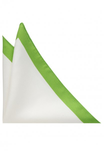 ETERNA POCKET SQUARE WHITE / GREEN UNI