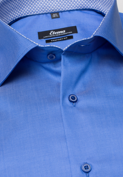 ETERNA LONG SLEEVE SHIRT COMFORT FIT GENTLE SHIRT TWILL BLUE UNI
