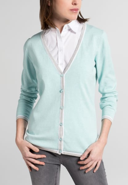 ETERNA KNIT CARDIGAN POWDER MINT UNI