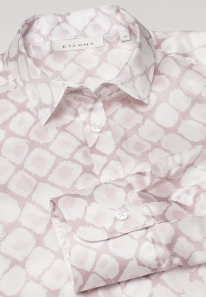 ETERNA LONG SLEEVE BLOUSE MODERN CLASSIC PINK/WHITE PRINTED