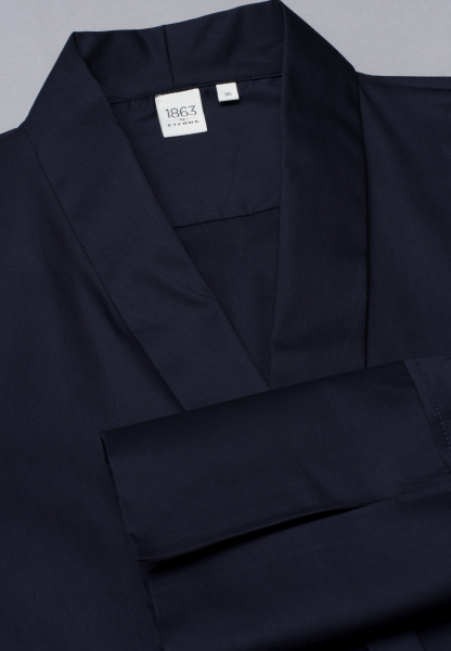 LONG SLEEVE BLOUSE 1863 BY ETERNA - PREMIUM STRETCH NAVY UNI
