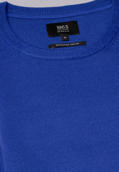 ETERNA KNIT SWEATER WITH ROUND NECK BLUE UNI