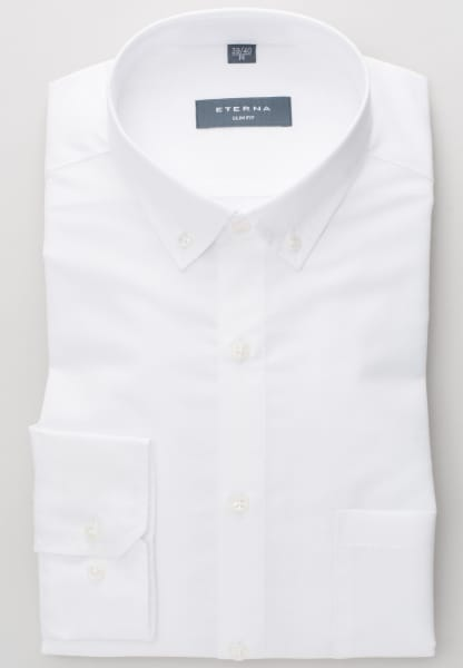 ETERNA LONG SLEEVE SHIRT SLIM FIT LINEN WHITE UNI