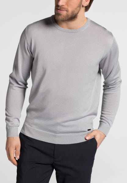 ETERNA KNIT SWEATER WITH ROUND NECK SILVER GREY UNI