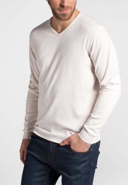 ETERNA KNIT SWEATER WITH V-NECK BEIGE UNI