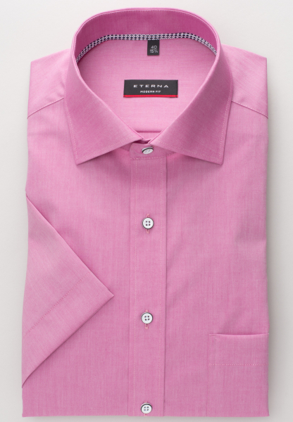 ETERNA HALF SLEEVE SHIRT MODERN FIT CHAMBRAY PINK UNI