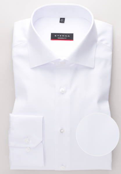ETERNA LONG SLEEVE SHIRT MODERN FIT TWILL WHITE UNI