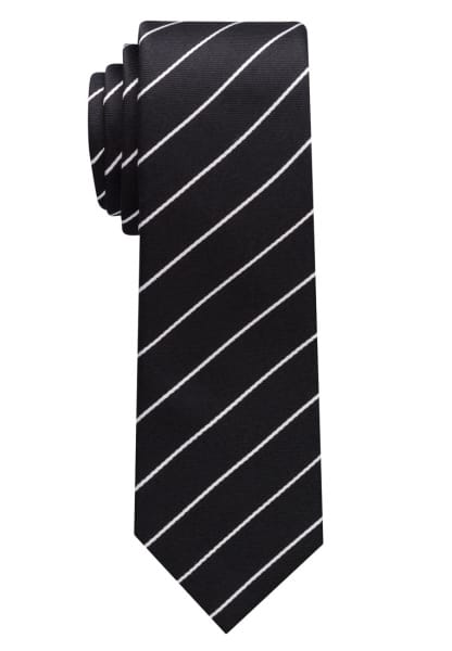 ETERNA TIE BLACK / SILVER GRAY STRIPED