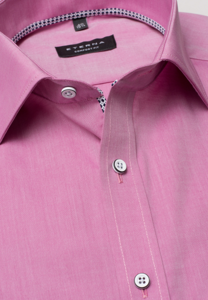 ETERNA HALF SLEEVE SHIRT COMFORT FIT CHAMBRAY PINK UNI