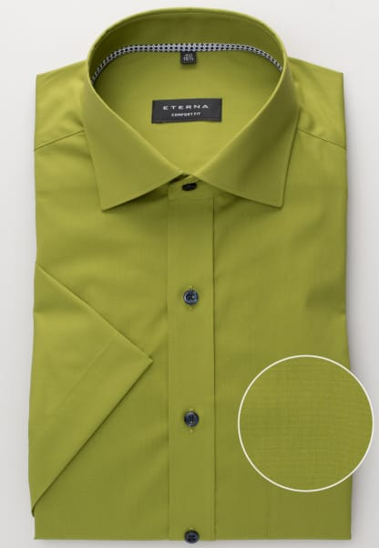 ETERNA HALF SLEEVE SHIRT COMFORT FIT STRETCH MOSS GREEN UNI