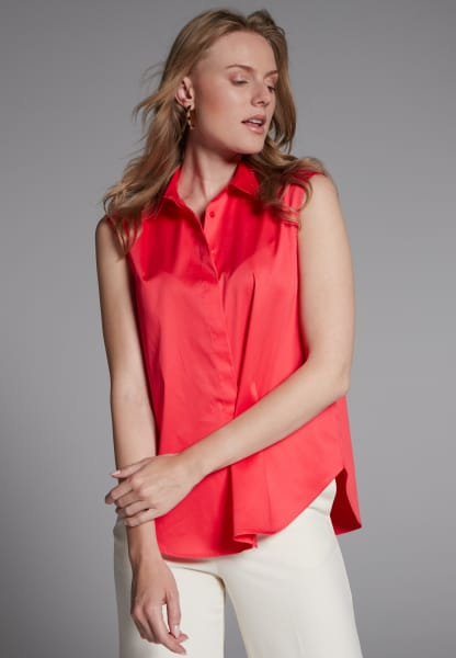 WITHOUT SLEEVES BLOUSE 1863 BY ETERNA - PREMIUM ORANGE RED UNI