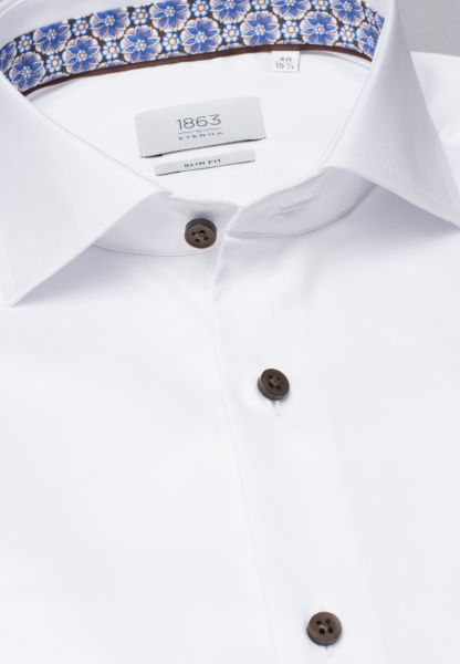 ETERNA LONG SLEEVE SHIRT SLIM FIT TWILL WHITE UNI