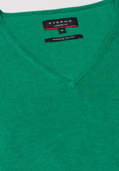 ETERNA KNIT SWEATER WITH V-NECK GREEN UNI