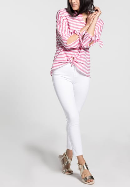 3/4 SLEEVE BLOUSE 1863 BY ETERNA - PREMIUM PINK STRIPED