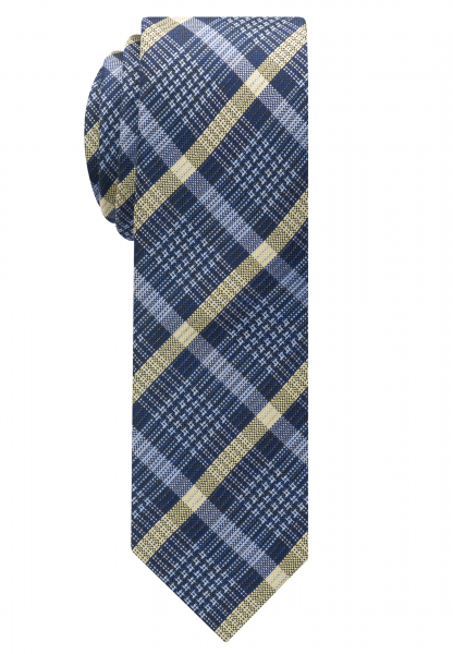 ETERNA TIE NAVY / LIGHT BLUE / BEIGE CHECKED