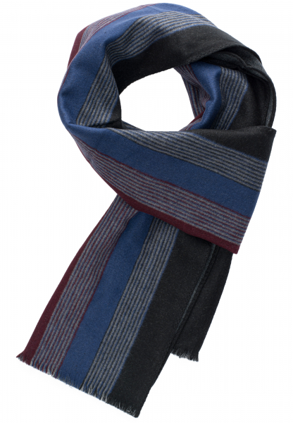 ETERNA SCARF black / blue / bordeaux STRIPED