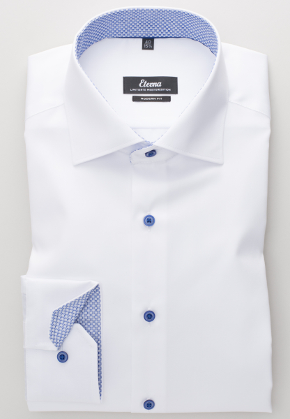 ETERNA LONG SLEEVE SHIRT MODERN FIT GENTLE SHIRT TWILL WHITE UNI