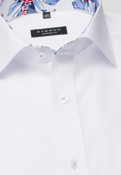 ETERNA HALF SLEEVE SHIRT COMFORT FIT PINPOINT WHITE UNI