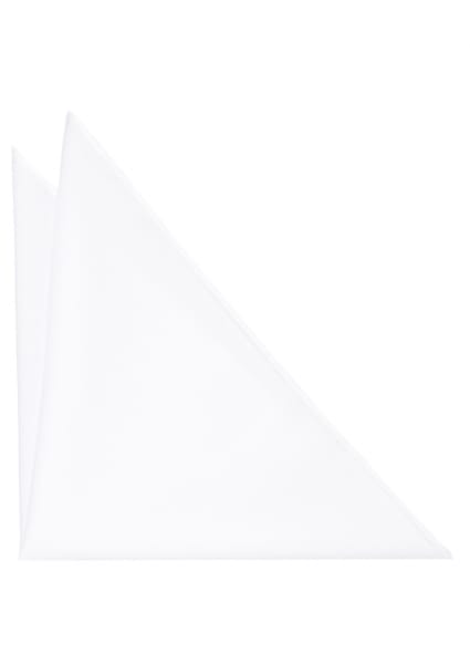 ETERNA POCKET SQUARE WHITE UNI
