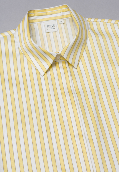 WITHOUT SLEEVES BLOUSE 1863 BY ETERNA - PREMIUM YELLOW /WHITE STRIPED