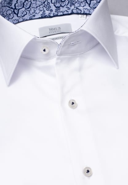 ETERNA LONG SLEEVE SHIRT COMFORT FIT GENTLE SHIRT TWILL WHITE UNI